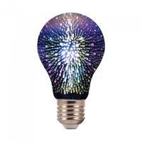 LED Bulb - 3W E27 Filament 3D A60 3000K