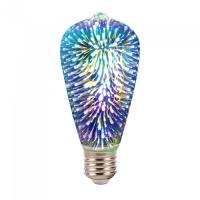 LED Bulb - 3W E27 Filament 3D ST64 3000K