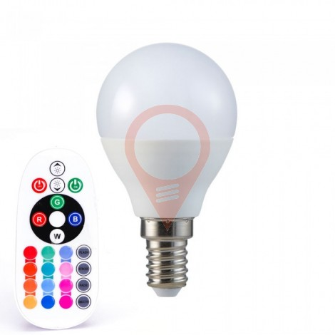 LED Bulb - 3.5W E14 P45 Dimming Brightness RF Control RGB + 6400K