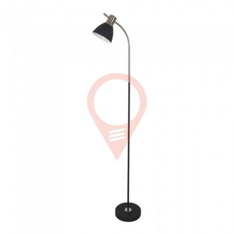 Designer Floor Lamp Black Metal Base Switch E27 Holder Black Chrome