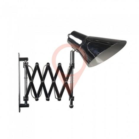 Designer Wall Lamp Adjustable Bracket Switch E27 Holder Chrome