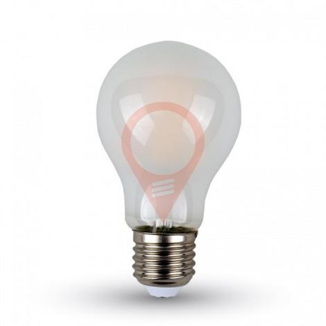 Filament LED Bulb White Cover - 4W E27 A60 Warm White