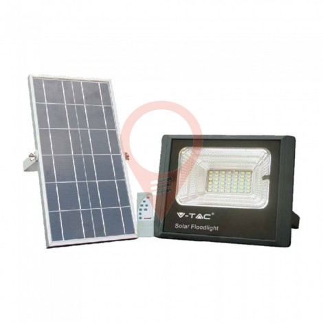 12W Solar Panel with LED Floodlight 6000K