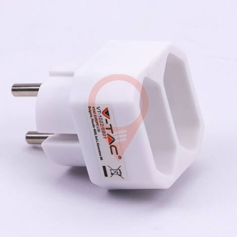 2 Outlet Adapter 2.5A White Label + Poly Bag