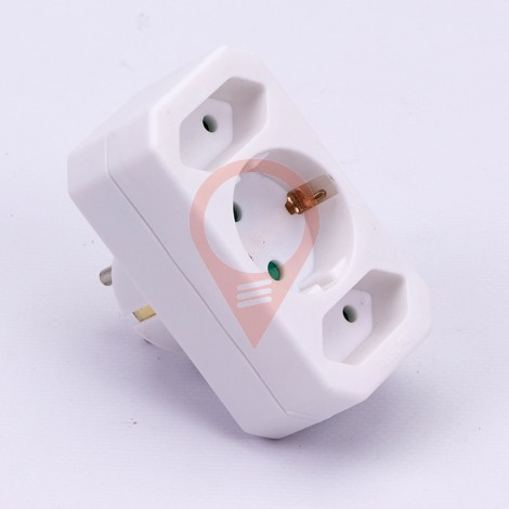 Adapter 2 x 2.5A 1 x 16A White