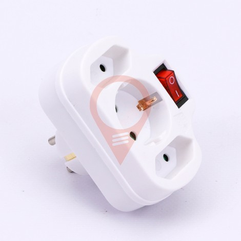 Adapter with Switch 2 x 2.5A 1 x 16A