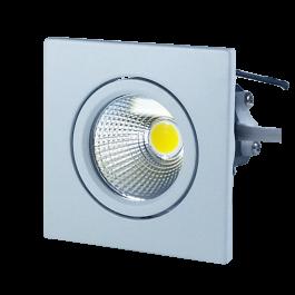 3W LED Downlight Square - White Body, White
