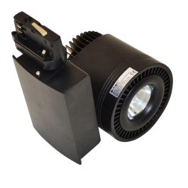 33W LED COB Track Light Black Body, White