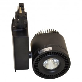 45W LED COB Track Light Black Body, Warm White
