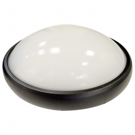 8W Dome Light Round Black Body Natural White Waterproof