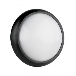 8W Dome Light Round Black Body 6400K IP54