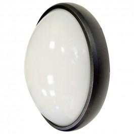 8W Dome Light Oval Black Body White Waterproof
