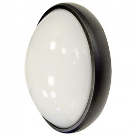 8W Dome Light Oval Black Body Warm White Waterproof