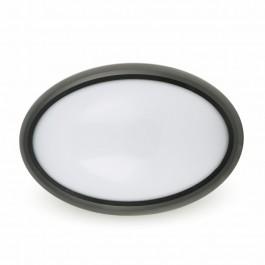 12W Dome Light Full Oval Black Body Waterproof White
