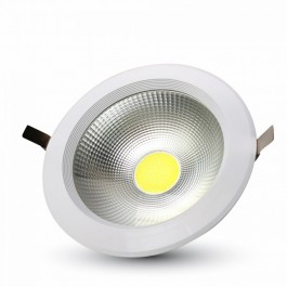 10W LED COB Downlight Round White