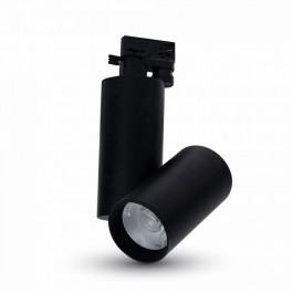 30W LED Track Light Black Body White