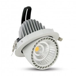 33W LED Zoom Fitting Downlight Round White