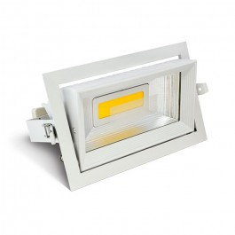 30W LED Zoom Fitting Downlight Rectangle White