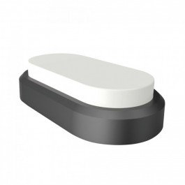 8W Rectangle Oval Dome Light Black Body Natural White IP54