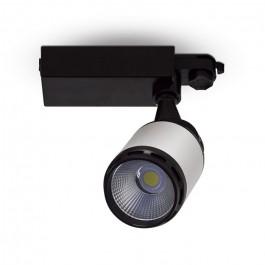 25W LED Track Light Black/White Body White