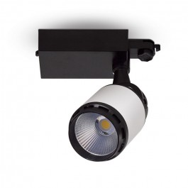 35W LED Track Light Black/White Body Natural White