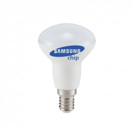 LED Bulb - SAMSUNG Chip 6W E14 R50 Plastic 3000K