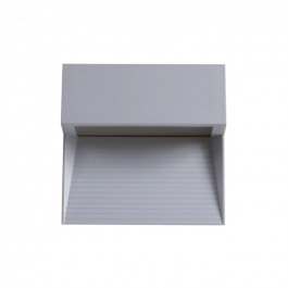3W LED Step Light Grey Body Square Natural White