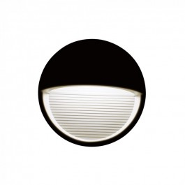 3W LED Step Light Black Body Round Warm White