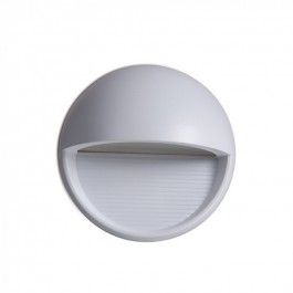3W LED Step Light Grey Body Round Natural White