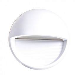 3W LED Step Light White Body Round Warm White