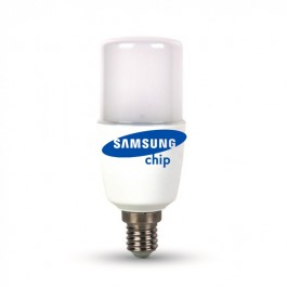 LED Bulb Samsung chip -  8W  E27 T37 Plastic Warm White