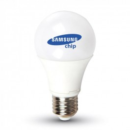 LED Bulb Samsung chip - 9W E27 A58 Plastic Warm White