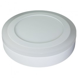 6W+2W LED Surface Panel - Round White