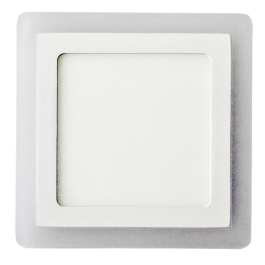 12W+3W LED Surface Panel - Square White