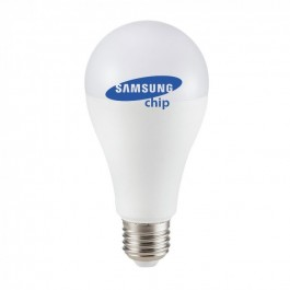 LED Bulb - SAMSUNG CHIP 8.5W E27 A++ A60 Plastic Warm White