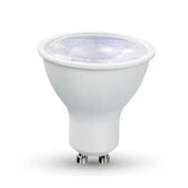 LED Spotlight - 8W GU10 White Plastic, Warm White