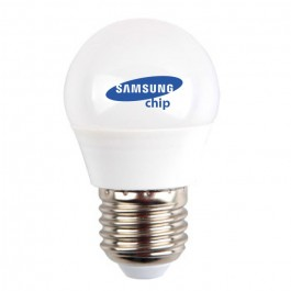 LED Bulb Samsung chip - 5.5W E27 G45 Warm White