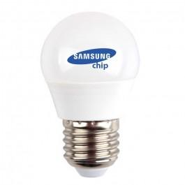 LED Bulb - SAMSUNG CHIP 4.5W E27 A++ G45 Plastic Warm White