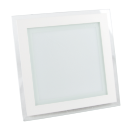 18W LED Mini Panel Glass - Square, Warm White