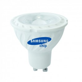 LED Spotlight SAMSUNG CHIP - GU10 6.5W  Ripple Plastic 110`D 6400K