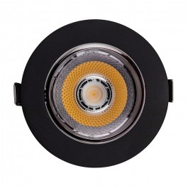LED Downlight SAMSUNG Chip 10W COB Reflector Black 6400K