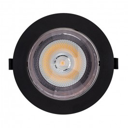 LED Downlight SAMSUNG Chip 20W COB Reflector Black 3000K