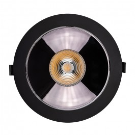 LED Downlight SAMSUNG Chip 30W COB Reflector Black 3000K
