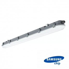 LED Waterproof Fitting M-Series 600 mm 18W 4500K Milky Cover 120 lm/W
