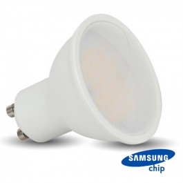 LED Spotlight SAMSUNG CHIP - GU10 5W Smooth Plastic 110`D 4000K