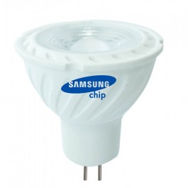 LED Spotlight SAMSUNG CHIP - GU5.3 6.5W MR16 Ripple Plastic Lens Cover 110` 6400K