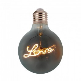 LED Bulb - 5W E27 Filament G125 Amber Glass 2200K