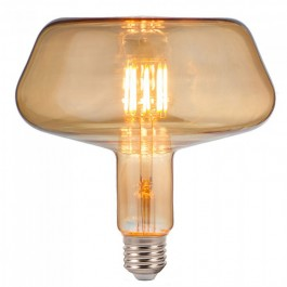 LED Bulb - 8W Filament E27 T180 Amber Glass 2200K