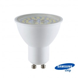 LED Spotlight SAMSUNG Chip GU10 5W Transparent 3000K 110° 160lm/W