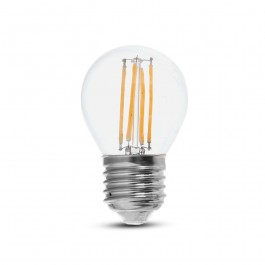 LED Bulb 6W Filament E27 G45 Clear Cover 6400K 130lm/W